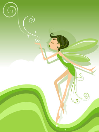 Spring Fairy Illustration