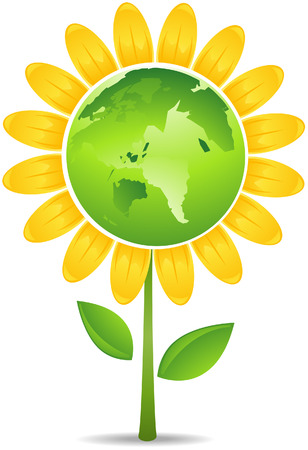 Earth Flower Vector