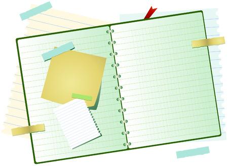 Open Notebook Stock Vector - 4615116