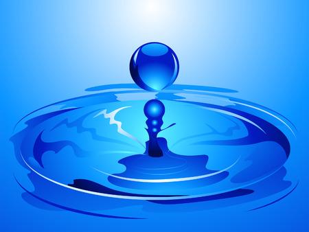 rimpeling: Water Drop Illustratie