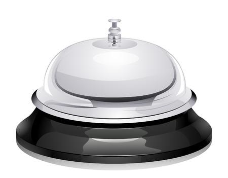 Service bel met uitknippad Vector Illustratie