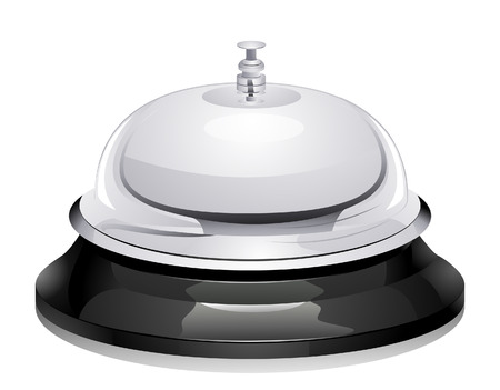 service bell: Service Bell with Clipping Path