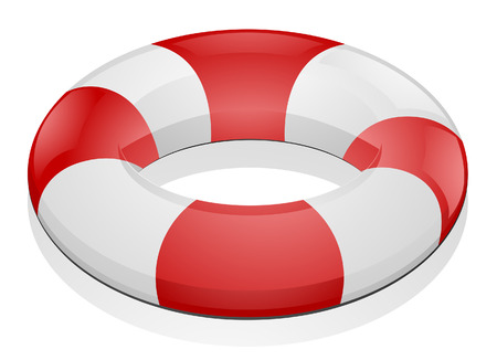 Life Buoy with Clipping Path Stock Vector - 4663047
