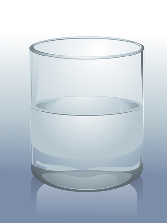 Realistic Glass of Water Illustration Vector