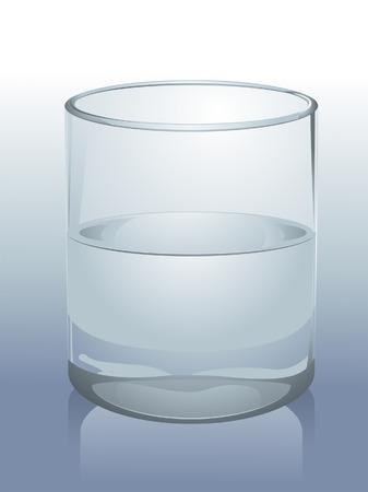 glas kunst: Realistische glas water Illustratie Stock Illustratie
