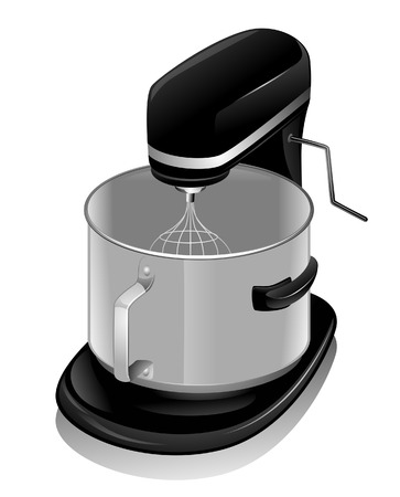 Stainless Mixer with Clipping Path Stock Vector - 4663052