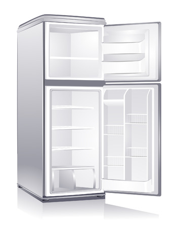 Empty Refrigerator with Clipping Path Stock Vector - 4666660