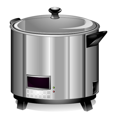 cooker: Rice Cooker with Clipping Path Illustration