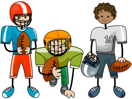 Football Kids with Clipping Path Stock Vector - 4687700