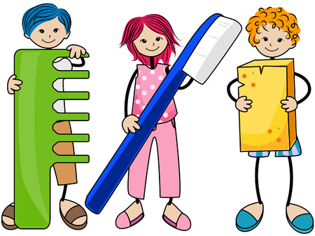 combs: Body Care Kids with Clipping Path