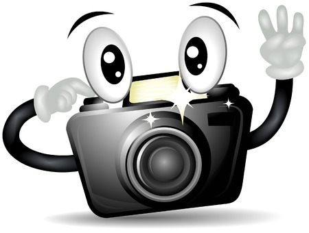 Camera Shooting with Clipping Path Vector