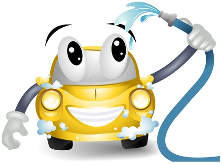 autolavaggio: Car wash con Clipping Path