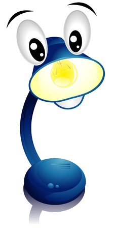 Desk Lamp with Clipping Path Vector