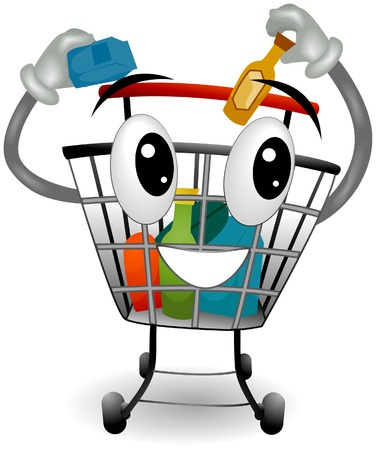 Shopping Cart with Clipping Path Stock Vector - 5052848