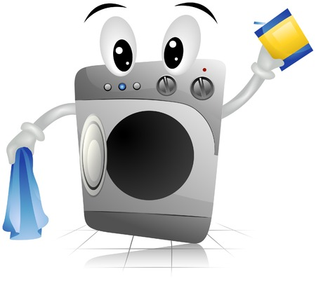 Washing Machine with Clipping Path Stock Vector - 5052846