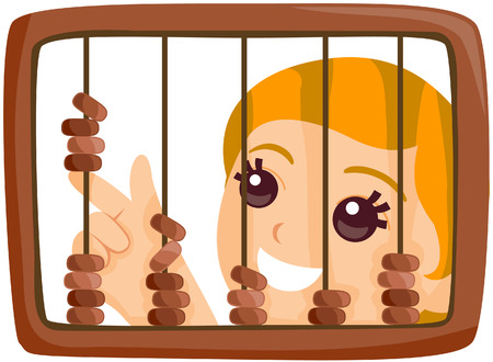 abacus: Kid with Abacus with Path Illustration