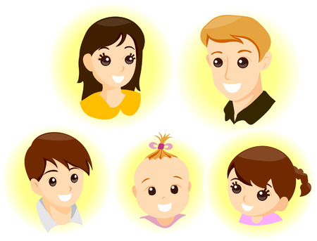 Family with Clipping Path Vector