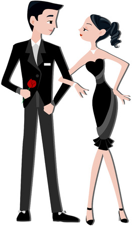 Couple with Clipping path Stock Vector - 5092967