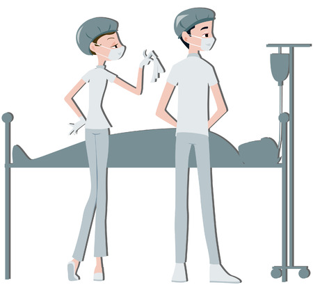 clipping: Doctor and Nurse with Clipping path Illustration