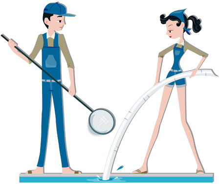 swimming pool woman: Pool Cleaners