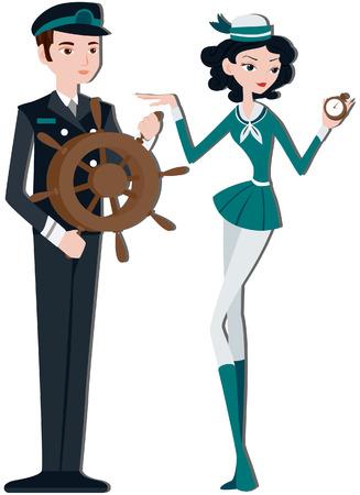 capitan de barco: Capit�n del buque y la tripulaci�n