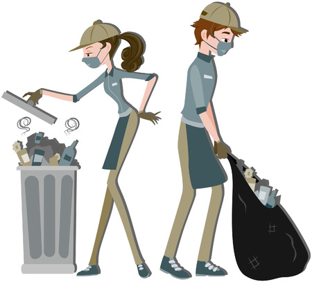rubbish bin: Waste Collector Illustration