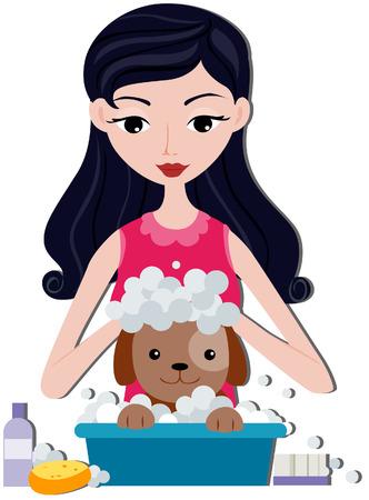 baarse: Chica de ba�o para perros con saturaci�n camino
