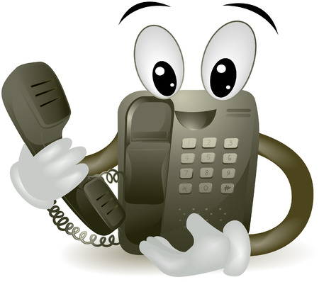 clipping: Telephone with clipping path