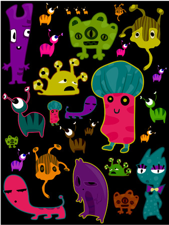 Monster Doodles with Clipping Path Stock Vector - 5210728