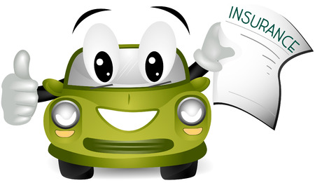 Car Insurance with clipping path Stock Vector - 5210719