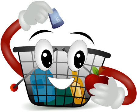 Shopping Basket with clipping path Vector