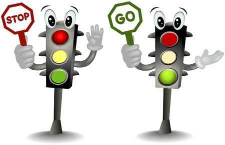 objects with clipping paths: Traffic Lights with clipping path