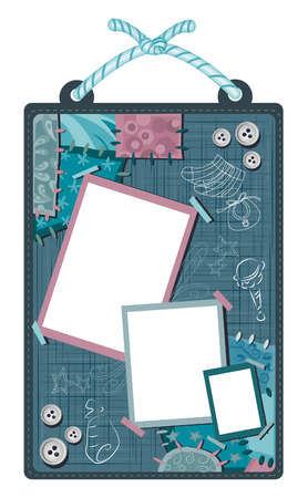 Baby Scrapbook Layout Royalty Free Cliparts Vectors And Stock