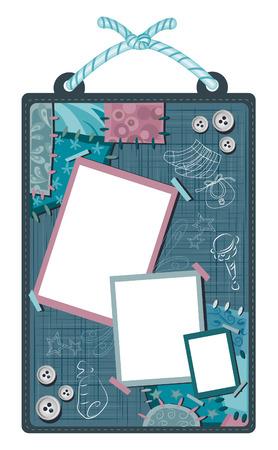 baby scrapbook: Baby Scrapbook Layout