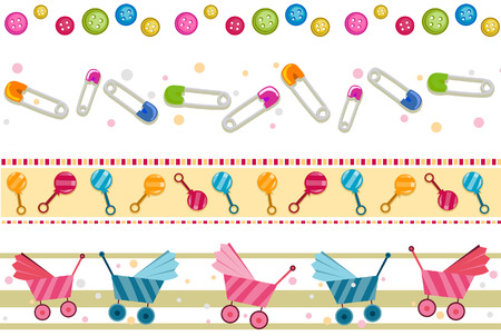 edge design: Baby Border Set with Clipping Path
