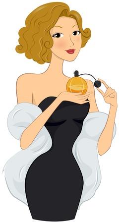 Girl using Perfume