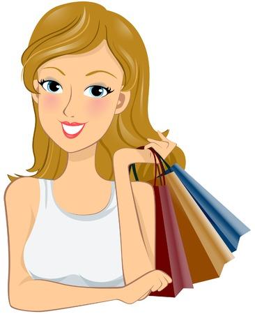 Shopping Girl Stock Vector - 5901236