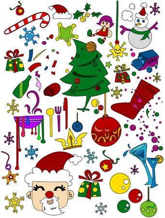 Christmas Doodles Vector