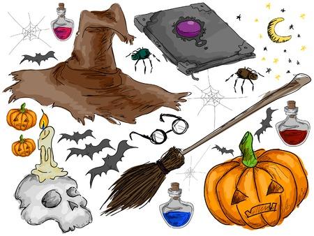 Halloween-Gekritzel