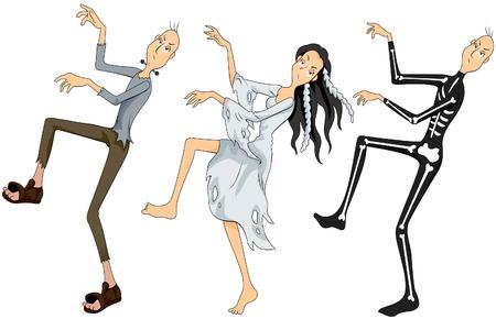tanzen cartoon: Zombies Dancing