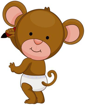 baby monkey: Baby Monkey Writing