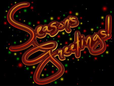 Seasons Greetings Design Stock Photo - 6312005