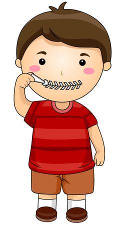 zip: Boy zipping mouth