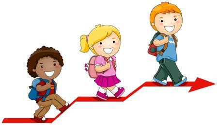 student cartoon: Children Learning