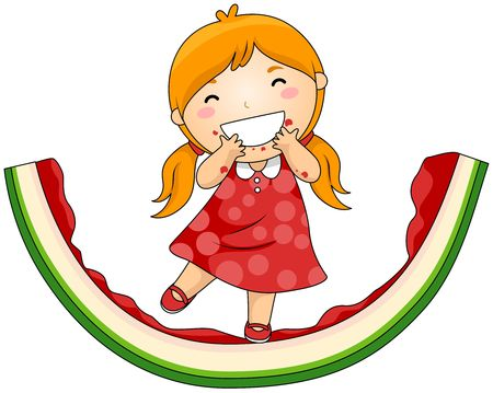 eaten: Girl on Eaten Watermelon