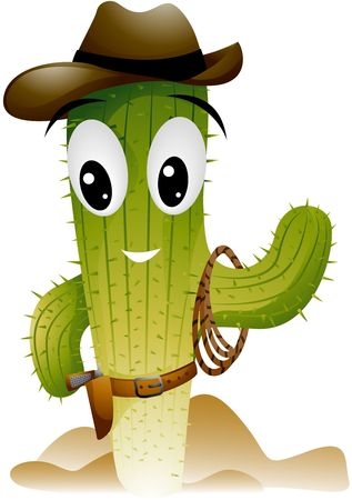 cartoon face: Cactus Cowboy