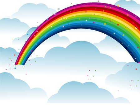 Rainbow on top of Clouds  photo