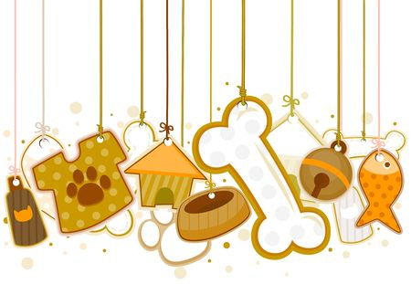 Pet Objects On Strings  Stock Photo - 6584969