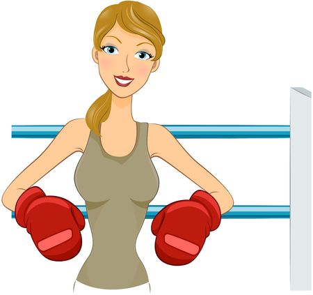 physically fit: Girl in Boxing Gloves