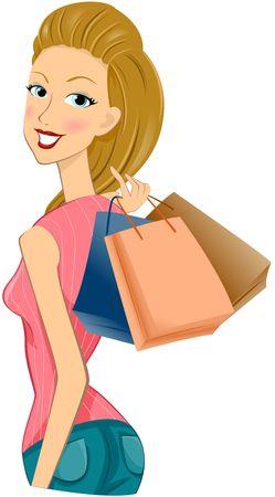 Girl Shopping Stock Photo - 6584905